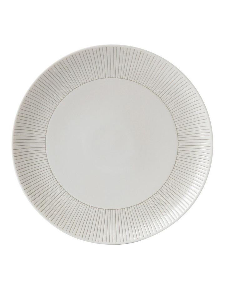 Ellen DeGeneres Taupe Stripe Plate 28cm image 1