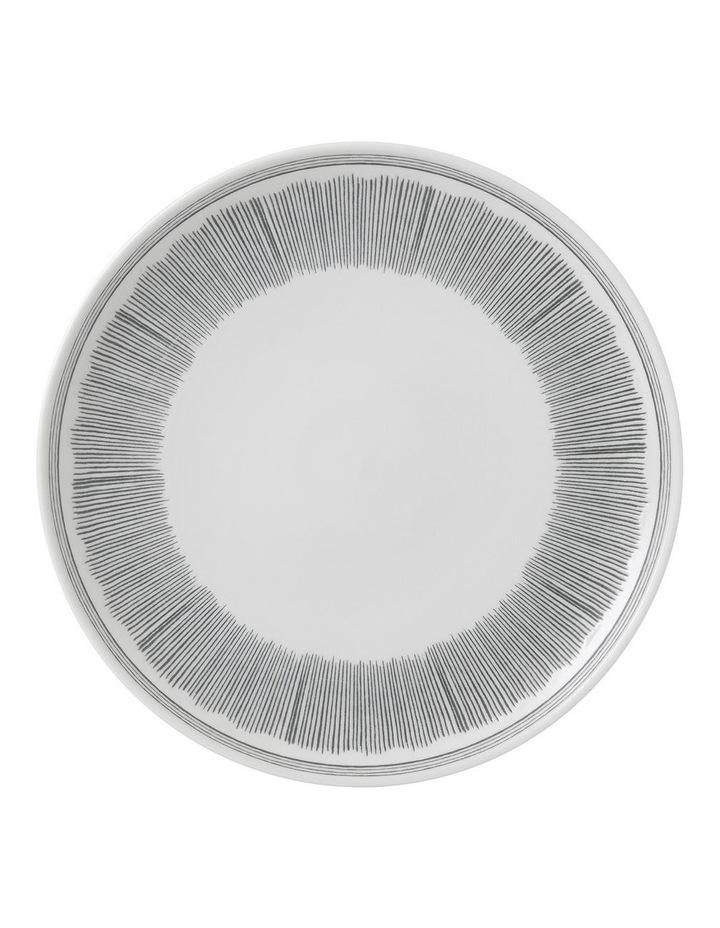Ellen DeGeneres Charcoal Grey Lines Plate 28cm image 1