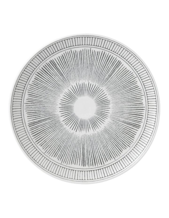 Ellen DeGeneres Charcoal Grey Lines Plate 21cm image 1