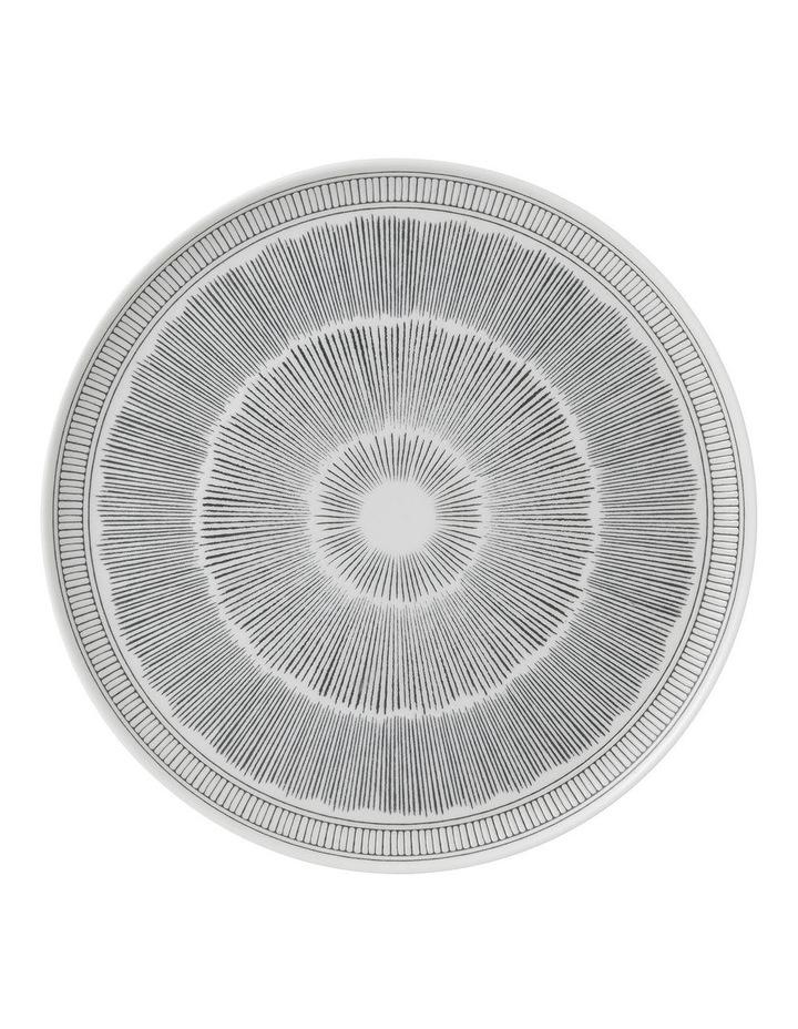 Ellen DeGeneres Charcoal Grey Lines Platter 32cm image 1