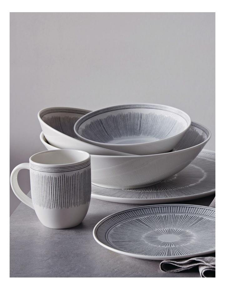 Ellen DeGeneres Charcoal Grey Lines Platter 32cm image 2