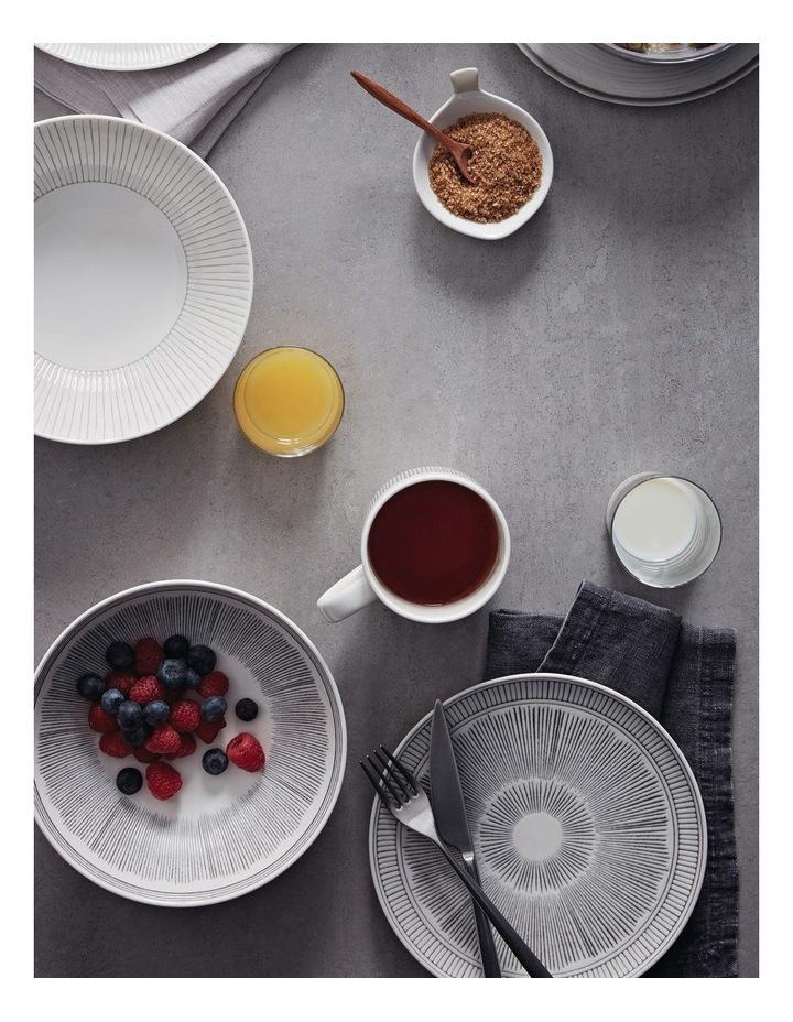Ellen DeGeneres Charcoal Grey Lines Platter 32cm image 3