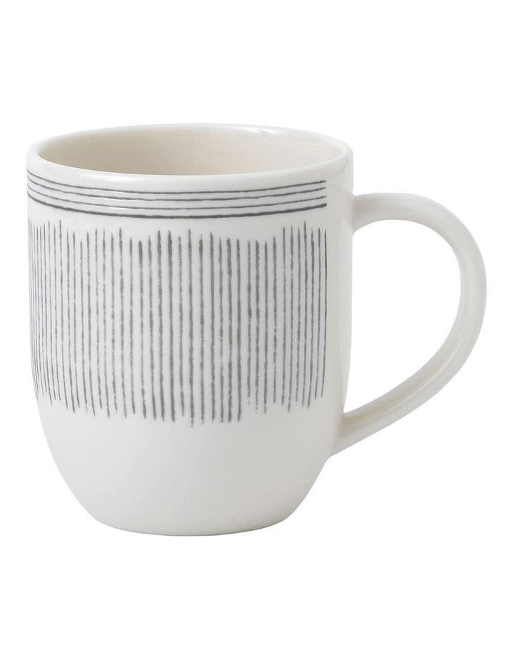 Ellen DeGeneres Charcoal Grey Lines Mug 430ml image 1