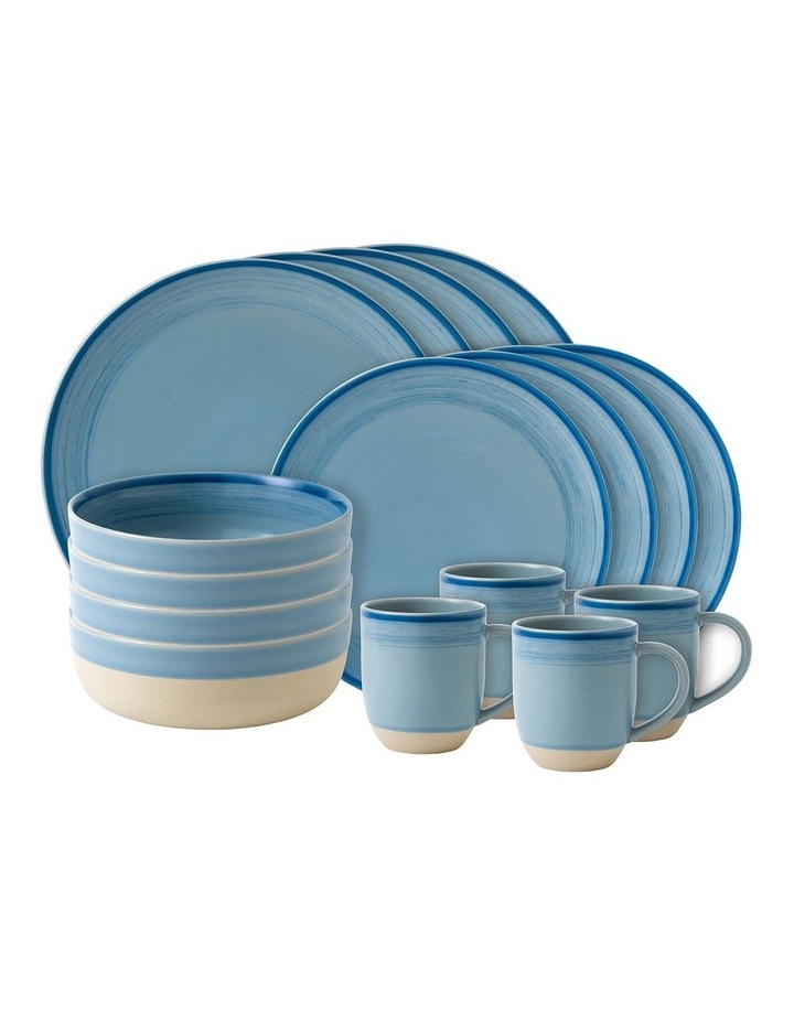 Ellen DeGeneres Polar Blue Brushed Glaze 16 Piece Set image 1