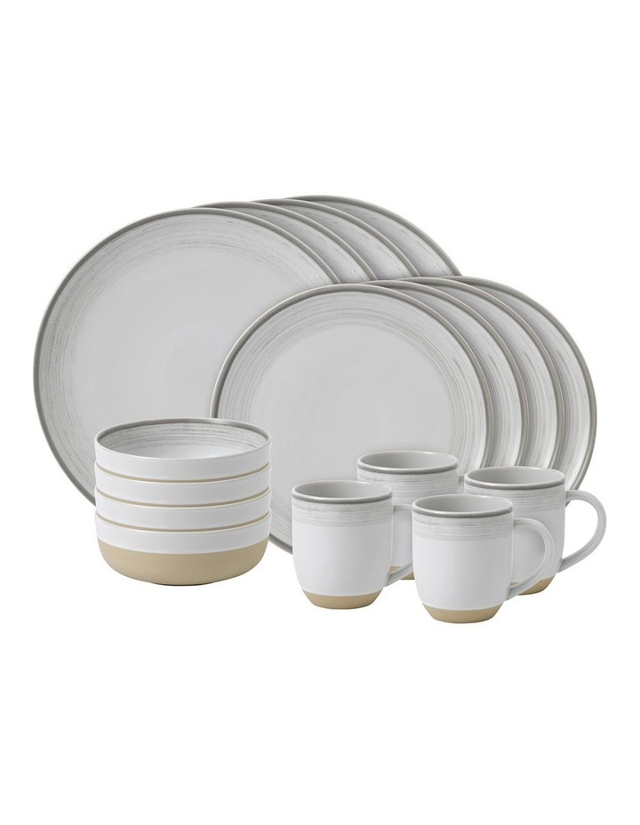 Ellen DeGeneres White Brushed Glaze 16 Piece Set image 1