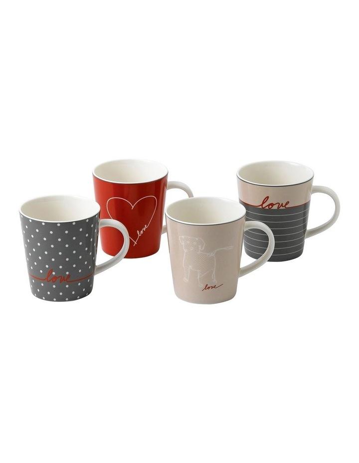 Ellen DeGeneres Signature Accents 450ml Set of 4 Mugs in Multicolour image 1