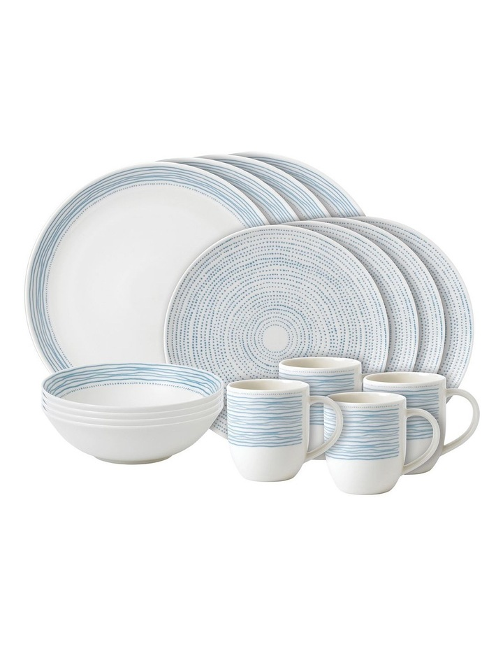 Ellen DeGeneres Polar Blue Dots 16 Piece Set image 1