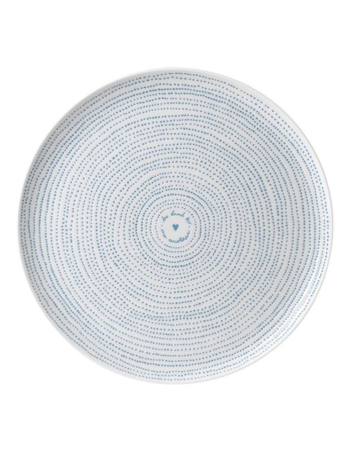 Ellen DeGeneres Polar Blue Dots Platter 32cm image 1