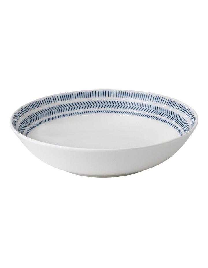 Ellen DeGeneres Dark Blue Chevron Pasta Bowl 24cm image 1
