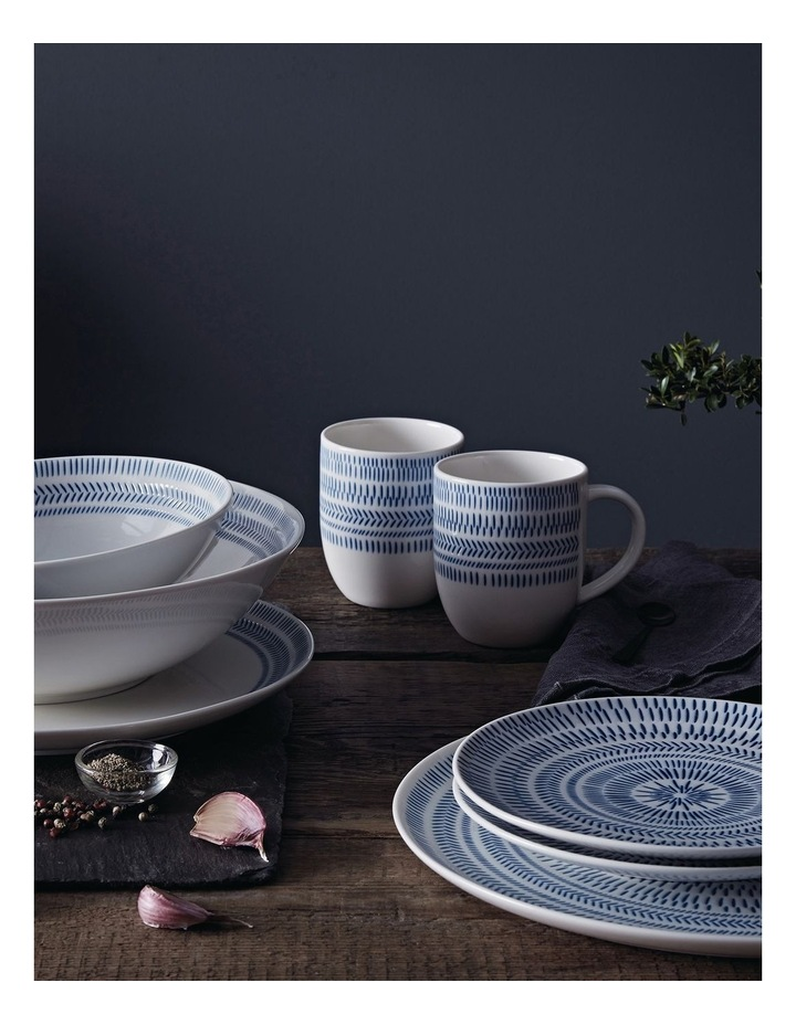 Ellen DeGeneres Dark Blue Chevron Pasta Bowl 24cm image 2