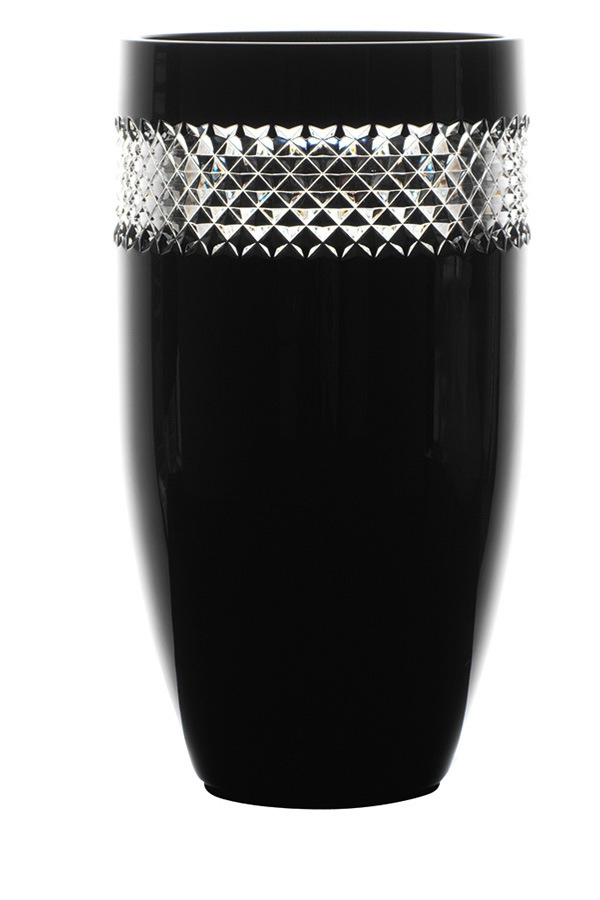 Waterford John Rocha Black Cut Vase 30cm Myer Online
