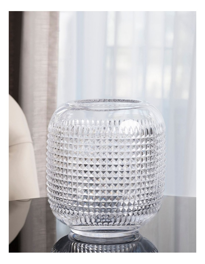 Jeff Leatham infinity 24cm Glass Vase in Crystal Clear image 2