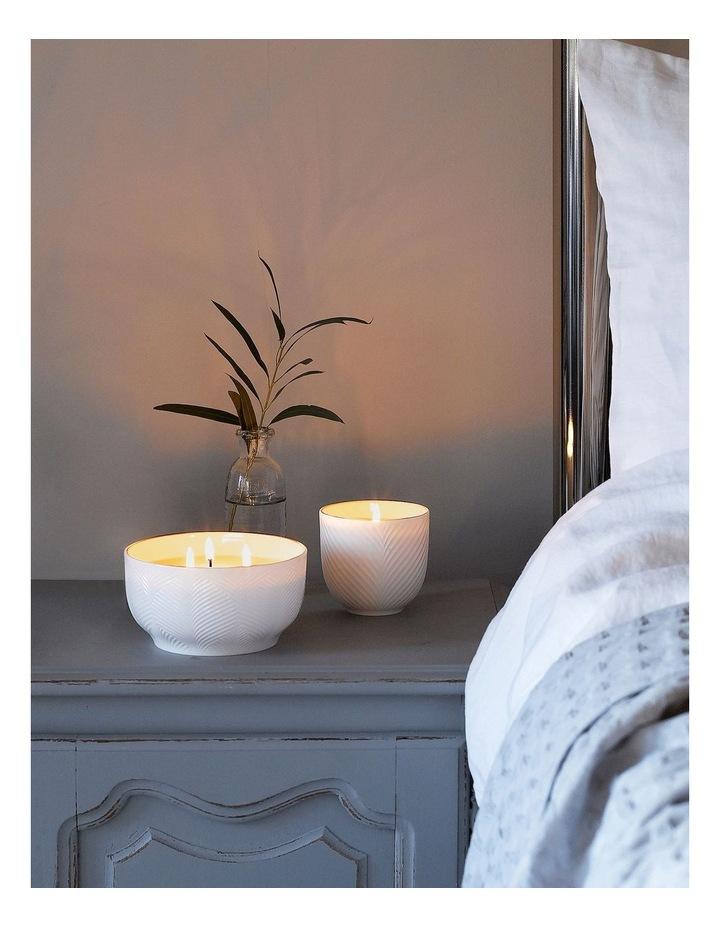 White Folia 3 Wick Filled Candle image 3