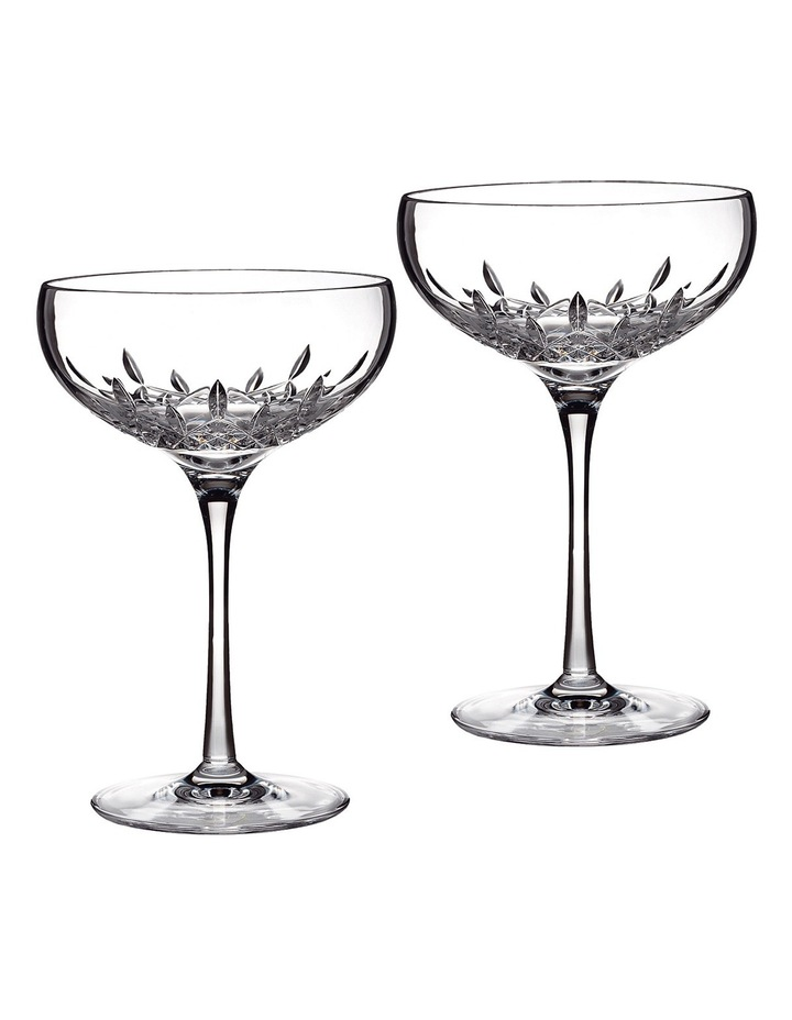 Lismore Essence Champagne Saucer Pair image 1