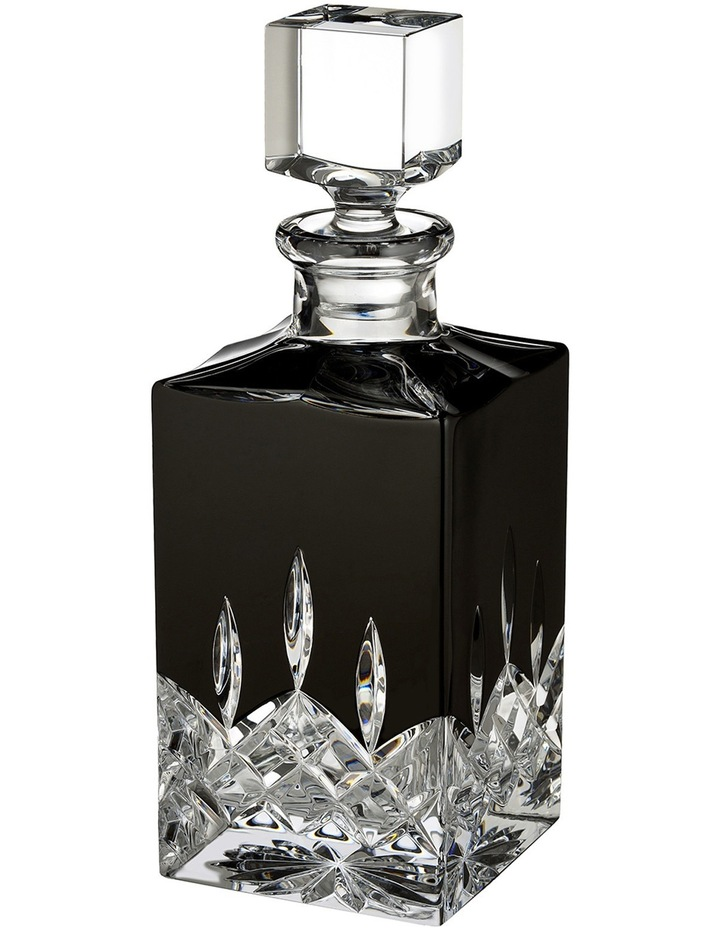 Lismore Black Square Decanter image 1