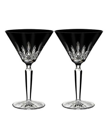 91fa92b270 Waterford Lismore Black Cocktail Pair