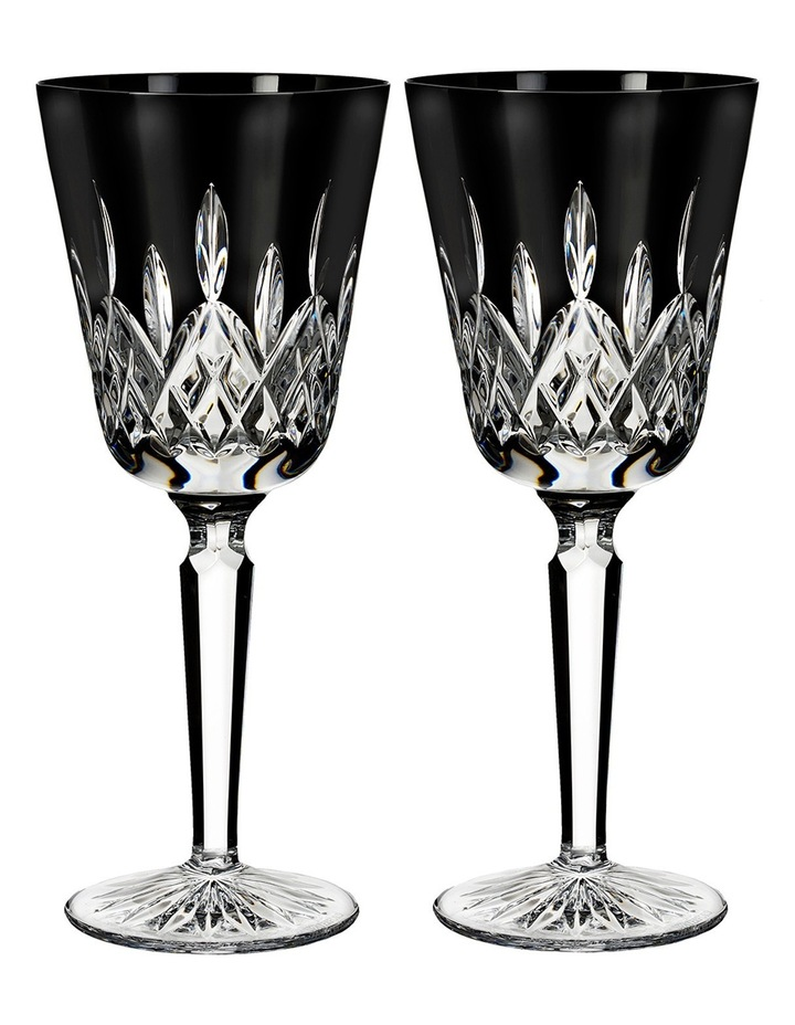 Lismore Black Tall Goblet Pair image 1
