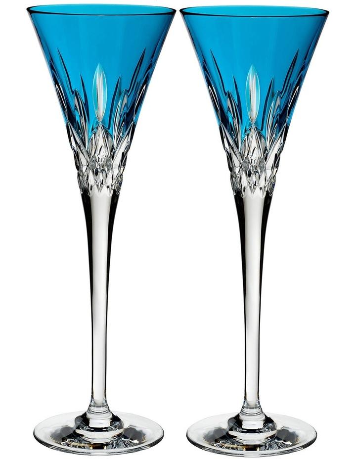 Lismore Pops Aqua Flute Pair image 1