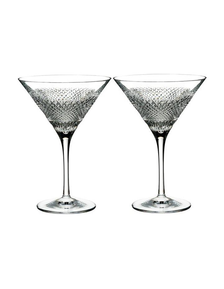 Diamond Line Martini Pair image 1
