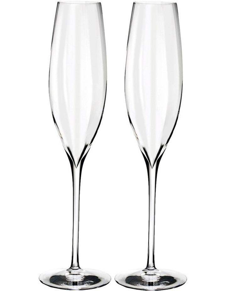 Elegance Optic Champagne Flute Pair image 1
