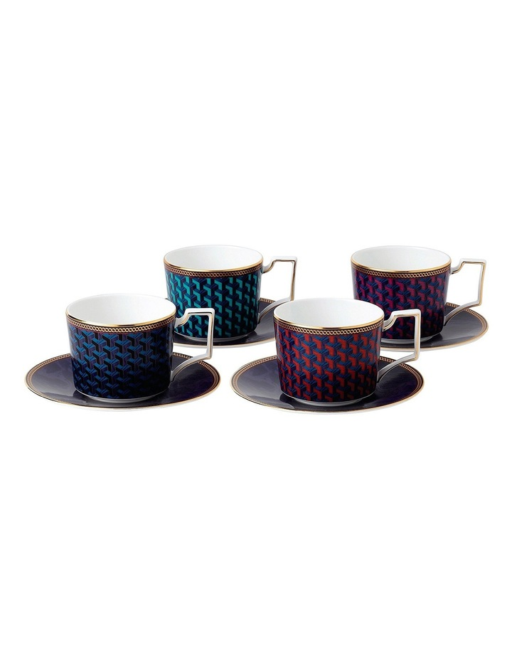Byzance Teacup and Saucer Set of 4 image 1