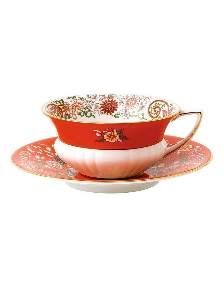 Wonderlust Crimson Orient Teacup and Saucer image 1