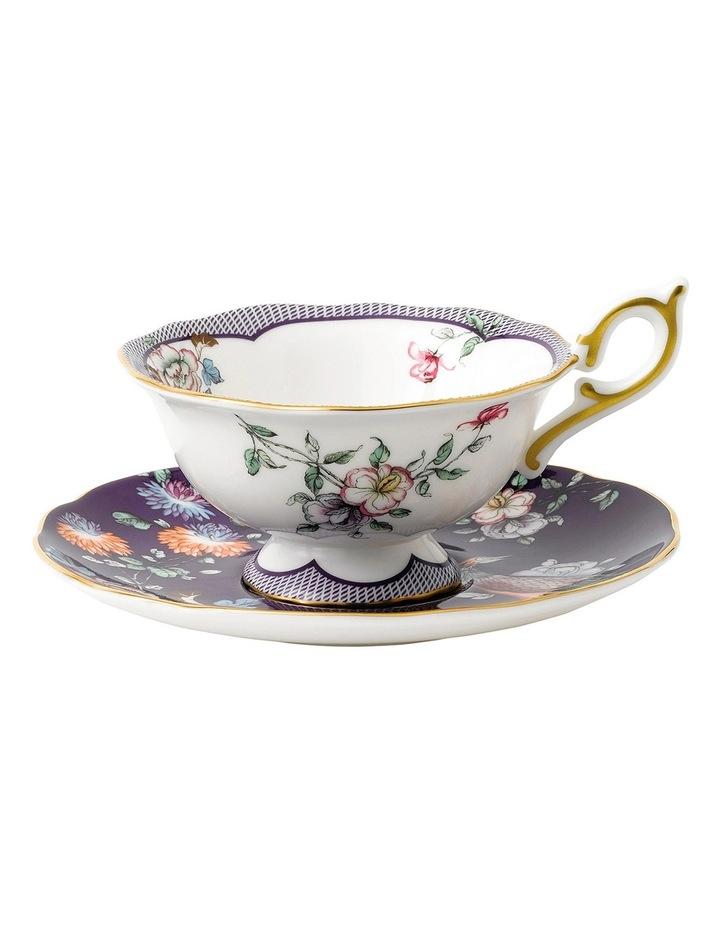 Wonderlust Midnight Crane Teacup and Saucer image 1