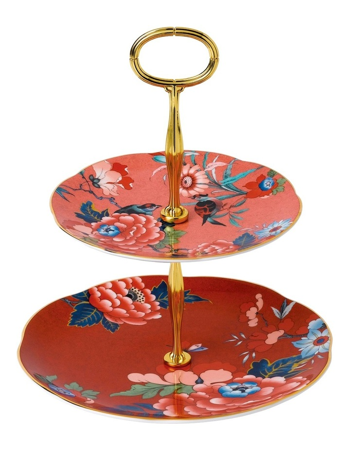 Paeonia Blush Two Tier Cake Stand image 1