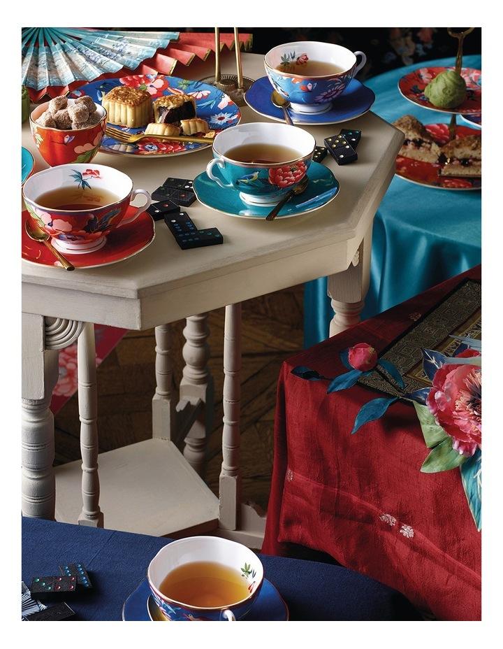 Paeonia Blush Teacup & Saucer Green image 2