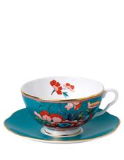 Paeonia Blush Teacup & Saucer Green