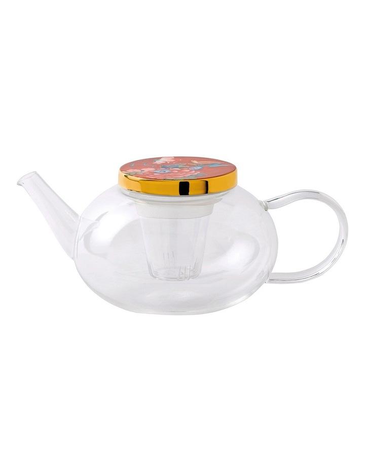 Paeonia Blush Glass Teapot image 1