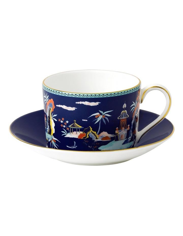 Wonderlust Blue Pagoda Teacup & Saucer image 1