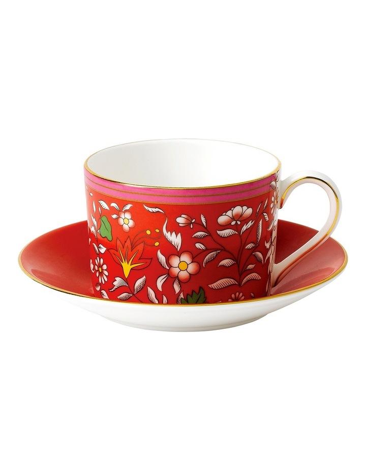 Wonderlust Crimson Jewel Teacup & Saucer image 1