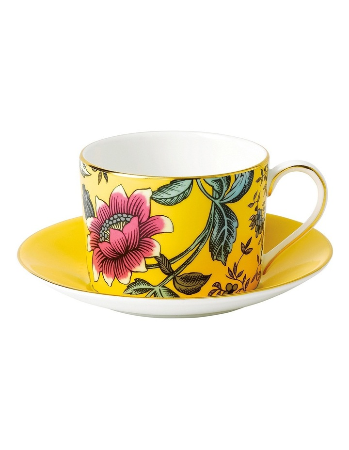 Wonderlust Yellow Tonquin Teacup Saucer image 1