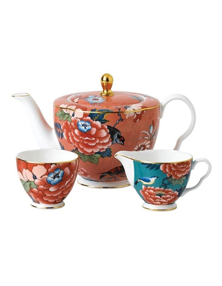 Paeonia Blush Teapot, Creamer and Sugar image 1
