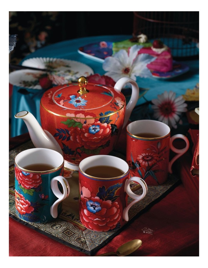 Paeonia Blush Teapot, Creamer and Sugar image 2