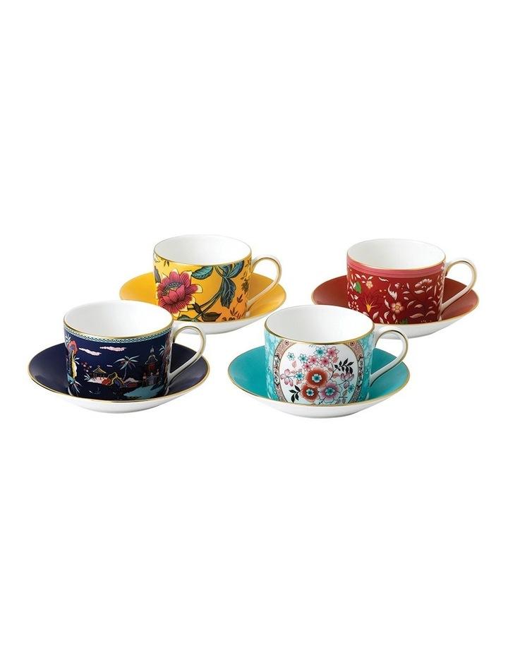 Wonderlust Teacup & Saucers Set of 4 image 1