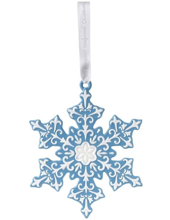 Wedgwood Christmas Ornaments.Wedgwood Christmas Snowflake Blue Ornament 8 5cm