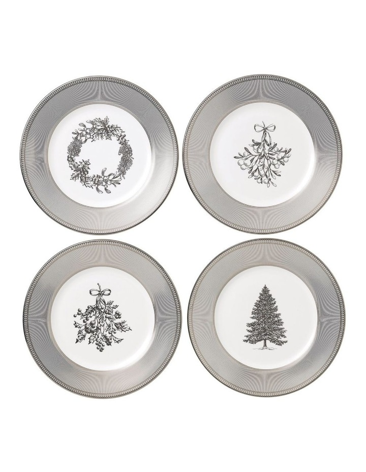 Christmas Plates 20cm Set of 4 image 1