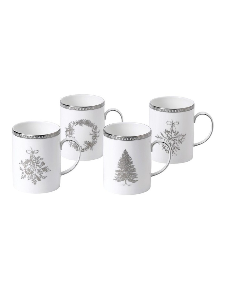Christmas Mugs Set of 4 image 1