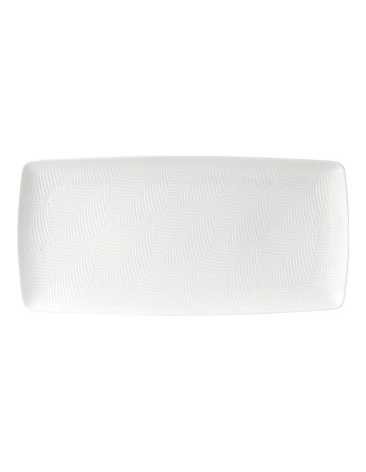 White Folia Rectangular Tray 32cm image 1