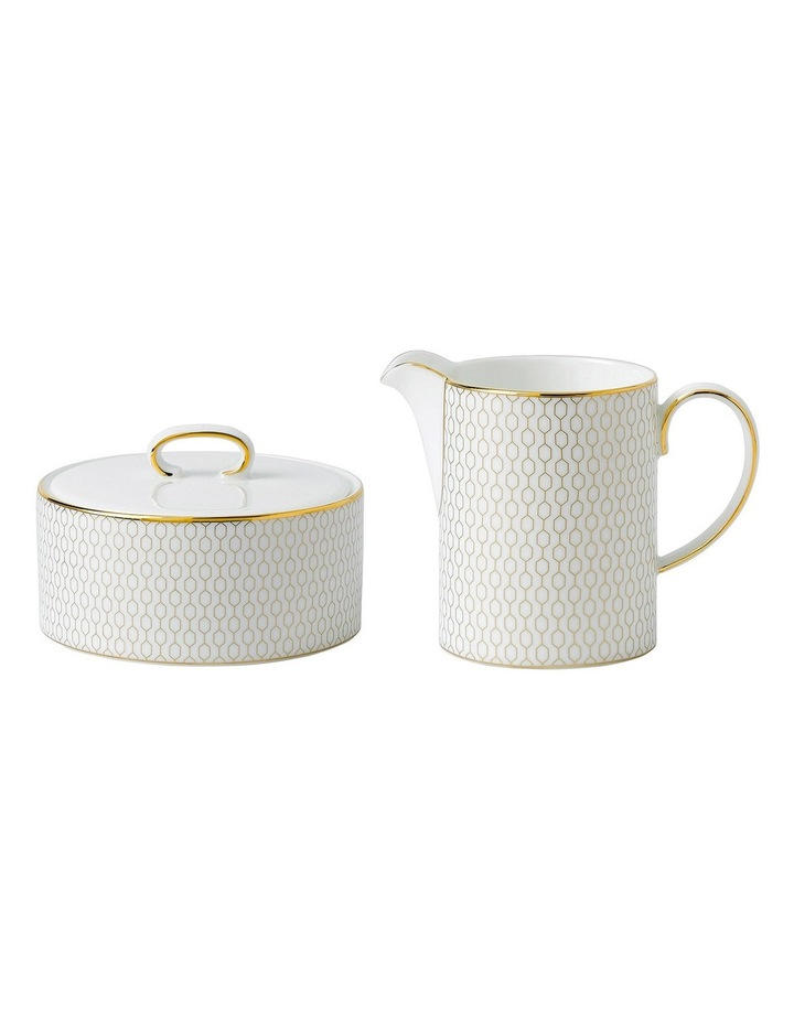 Arris Covered Sugar and Creamer image 1