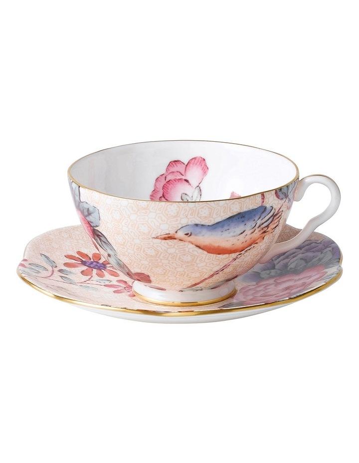 Cuckoo Teacup & Saucer Peach image 1