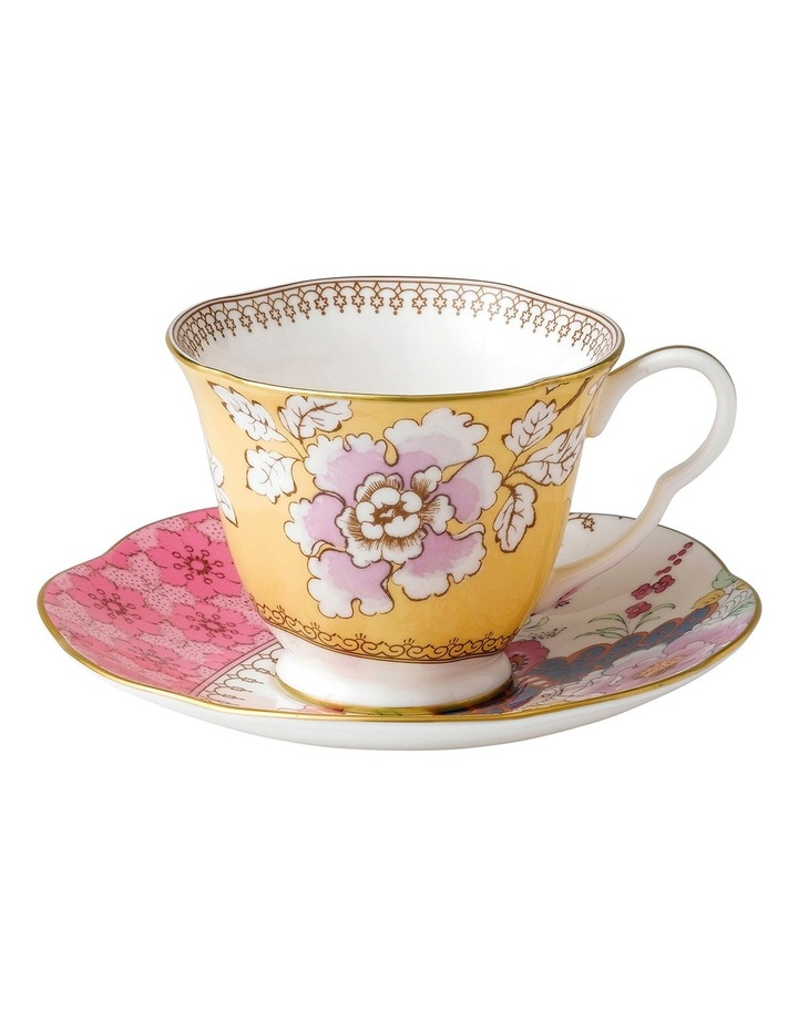 Butterfly Bloom Teacup & Saucer Yellow image 1