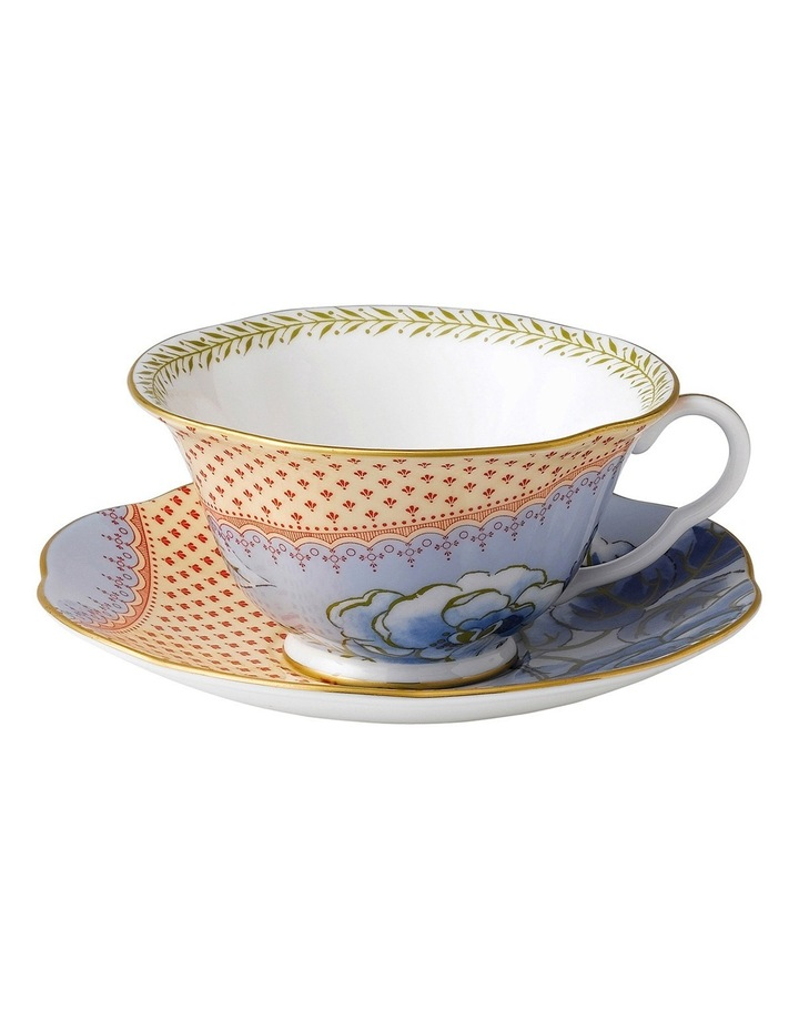Butterfly Bloom Teacup & Saucer Blue image 1