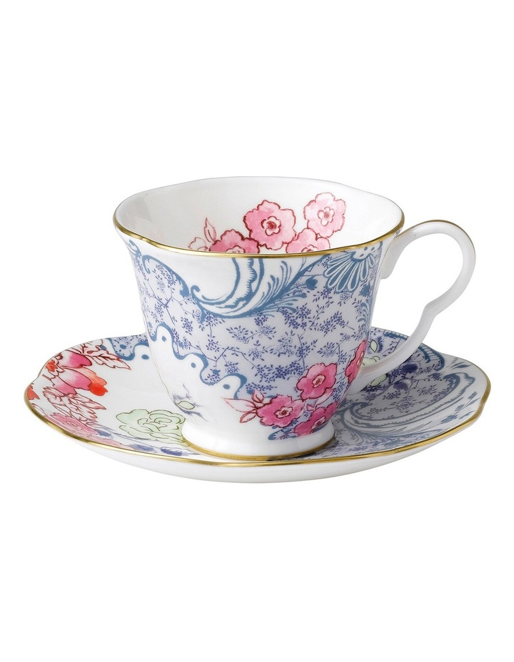 Butterfly Bloomteacup & Scr Blue & Pink image 1