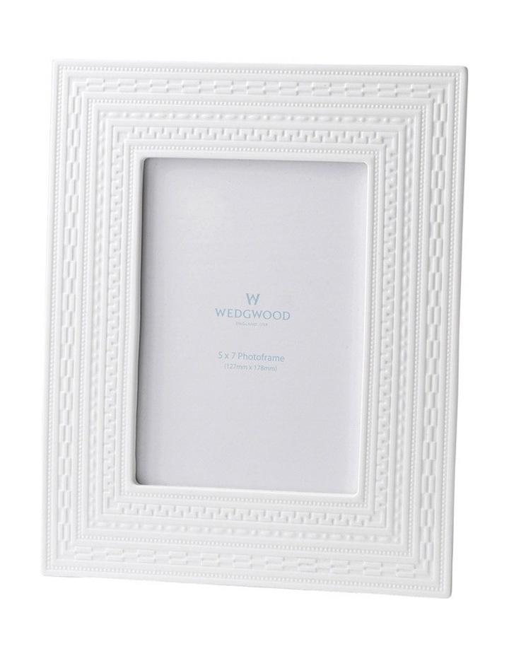 """Intaglio Gift White Frame 5""""X7"""" image 1"""
