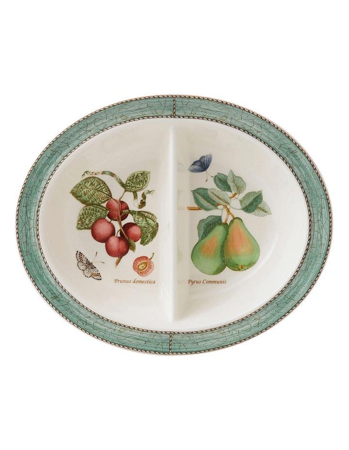 Sarah's Garden Oval Divided Dish 28cm image 1