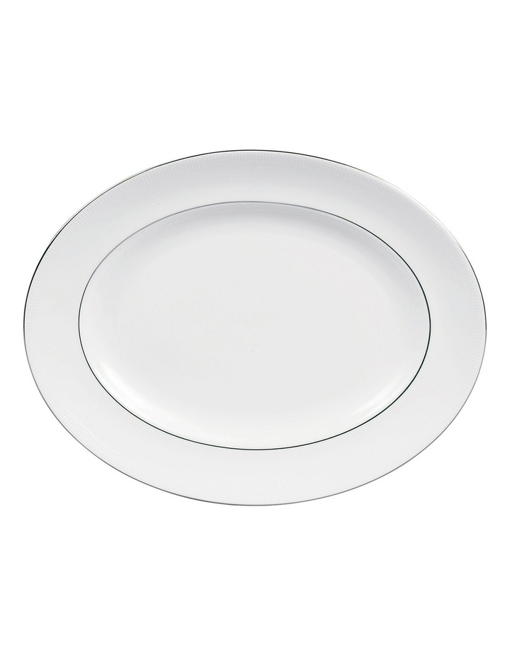 Vera Wang Blanc Sur Blanc Oval Dish 39cm image 1