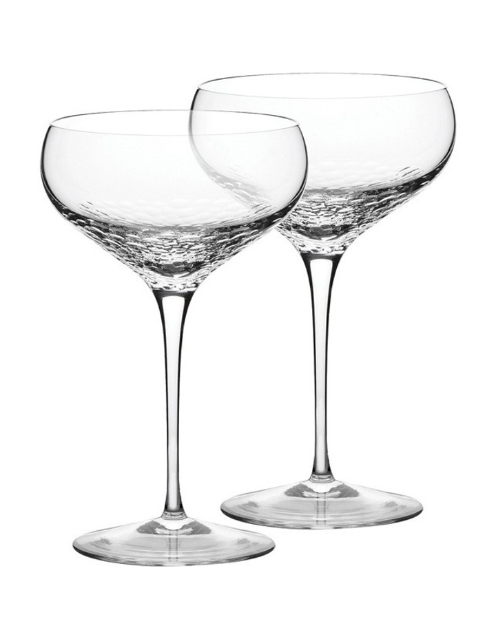 Vera Wang Sequin Champagne Saucer Pair image 1